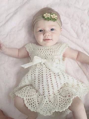 vestidos tejidos para bebe paso a paso faciles