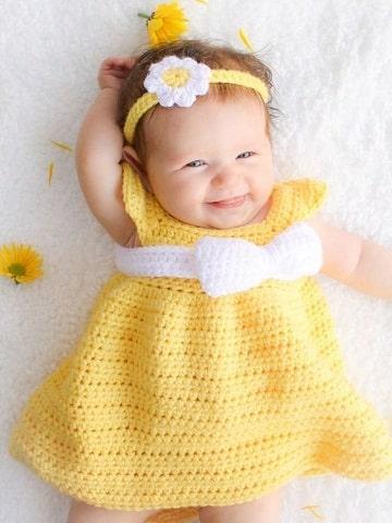 vestidos tejidos para bebe paso a paso gancho