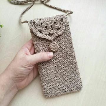 bolsitas a crochet para celular paso a paso