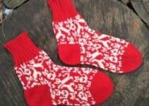 8 divertidos y coloridos calcetines de lana para niños