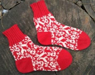 calcetines de lana para niños paso a paso
