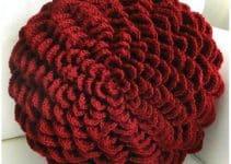 4 originales y coloridos cojines tejidos a crochet