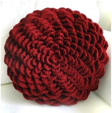 cojines tejidos a crochet redondos