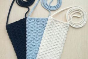 Originales bolsitas a crochet para celular en 6 colores