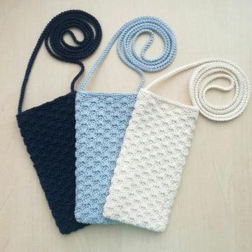 como hacer bolsitas a crochet para celular