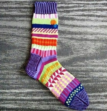 como hacer calcetines con agujas circulares
