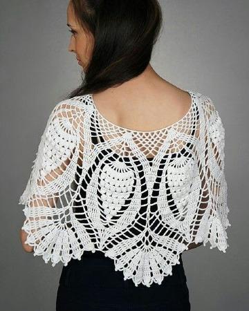 como hacer capas tejidas a crochet