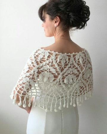 elegantes capas tejidas a crochet
