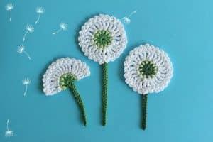 3 infantiles figuras tejidas a crochet para decorar