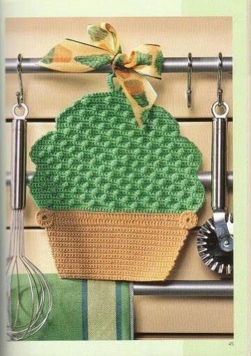 imagenes de agarraderas de ollas tejidas a crochet