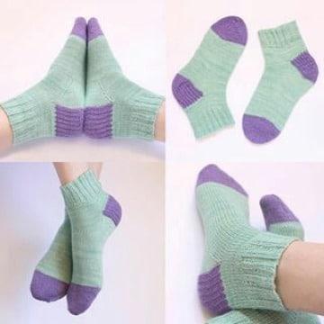 imagenes de calcetines con agujas circulares