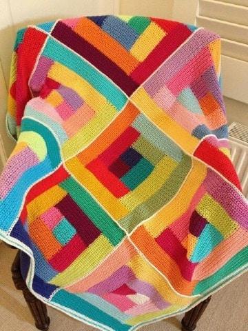 imagenes de mantas tejidas a crochet