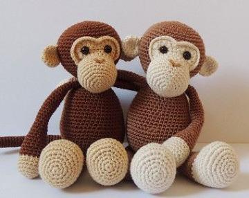 imagenes de monitos tejidos crochet
