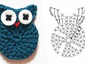 imagenes de patrones de lechuzas a crochet