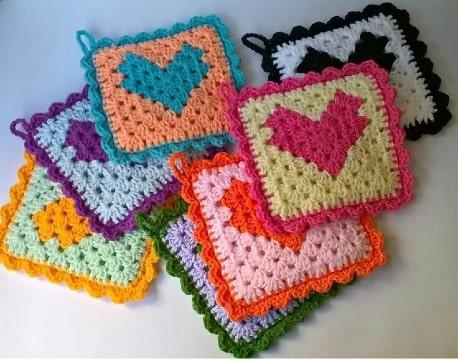modelos de agarraderas de ollas tejidas a crochet