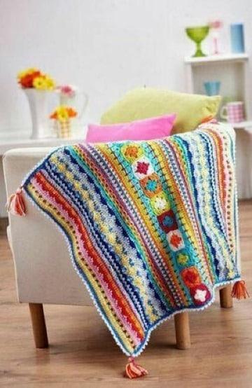 modelos de mantas tejidas a crochet