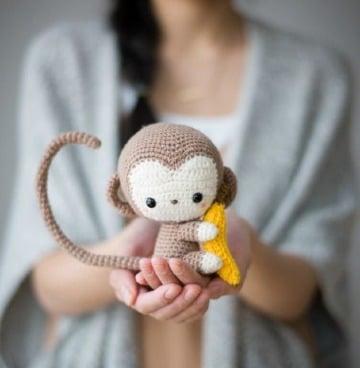 tiernos monitos tejidos crochet