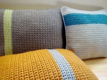 como hacer cojines de colores a crochet