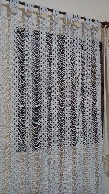 como hacer cortinas tejidas a crochet