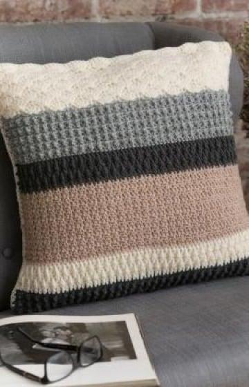 diseños de cojines de colores a crochet