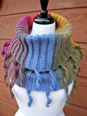 echarpes tejidos a palillo originales