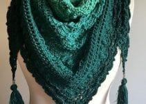 Bufandas y echarpes tejidos a palillo para invierno 2019