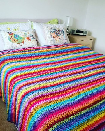 edredones tejidos a crochet cama matrimonial
