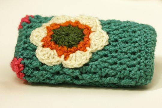 fundas y bolsitas a crochet para celular