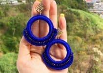 Geniales diseños de aretes tejidos a crochet 3 tamaños