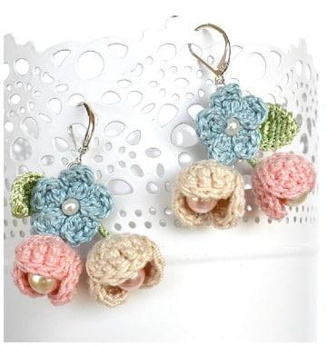 imagenes de aretes tejidos a crochet