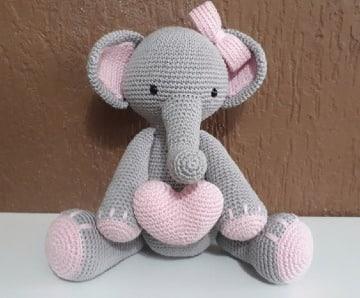 imagenes de elefante tejido a crochet
