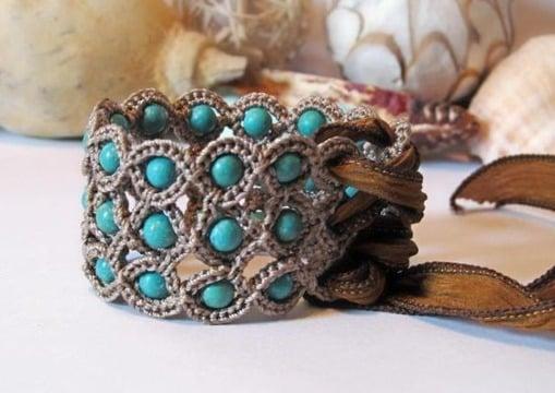 imagenes de pulseras tejidas a crochet