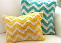 3 puntos para hacer cojines de colores a crochet
