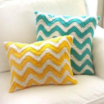 modelos de cojines de colores a crochet