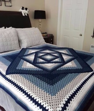 modelos de colchas hechas a crochet