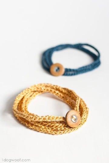 pulseras tejidas a crochet faciles de hacer