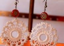 3 circulares y elegantes zarcillos tejidos a crochet
