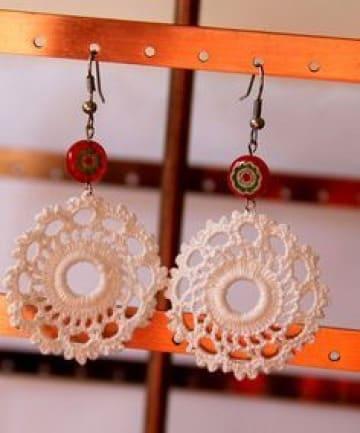 zarcillos tejidos a crochet sencillos