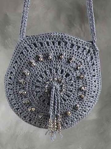 bolsas redondas tejidas pequeñas