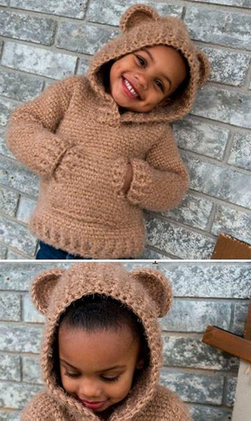 chompas para niños con capucha y orejas