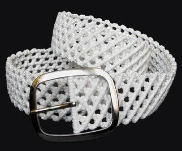 cinturones tejidos a gancho para mujer
