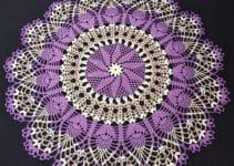 Bordados y puntos para carpetas en crochet redondas 2019
