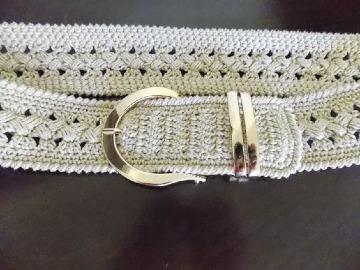como hacer cinturones tejidos a gancho