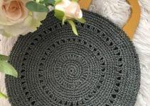 Geniales y originales bolsas redondas tejidas a 5 pasos