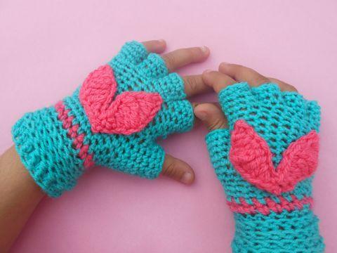 guantes tejidos para niños y niñas