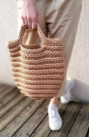 imagenes de bolsos tejidos con nylon