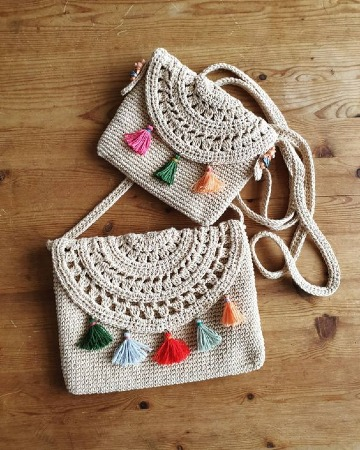imagenes de bolsos y carteras a crochet
