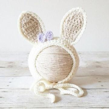 orejas de conejo a crochet para niños