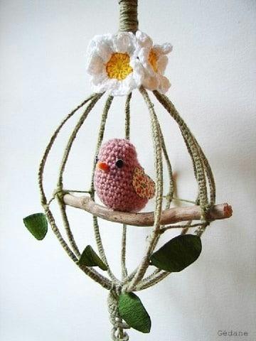 aves tejidas a crochet para decoracion