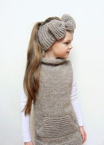 diseños de vinchas tejidas para niñas